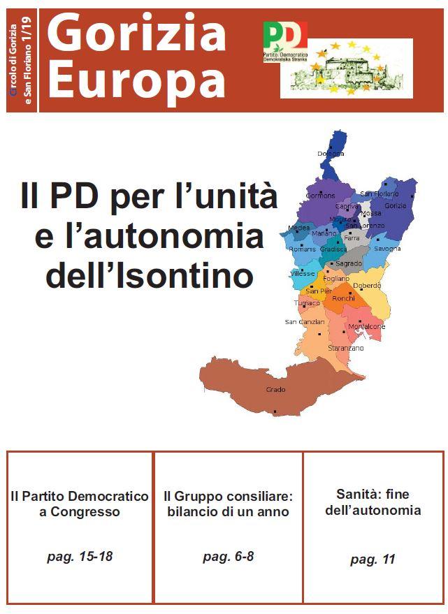 Leggi il numero 1/2019 di Gorizia Europa