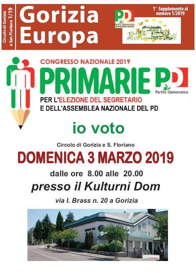 Gorizia Europa: SPECIALE PRIMARIE 2019